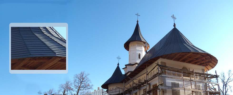 Tabla pentru acoperis furnizata de Cuprul.ro – Manastirea Bisericani – Neamt